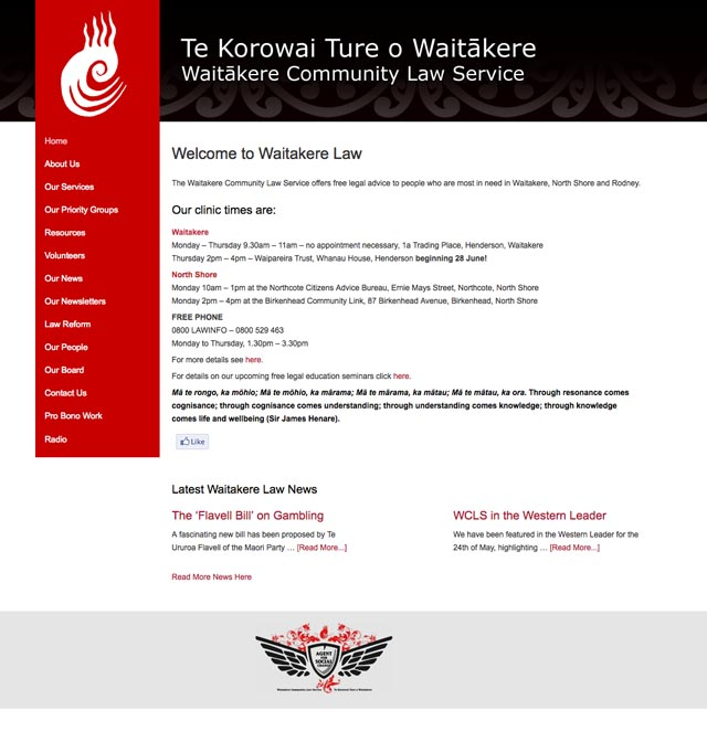 Waitakere Law website