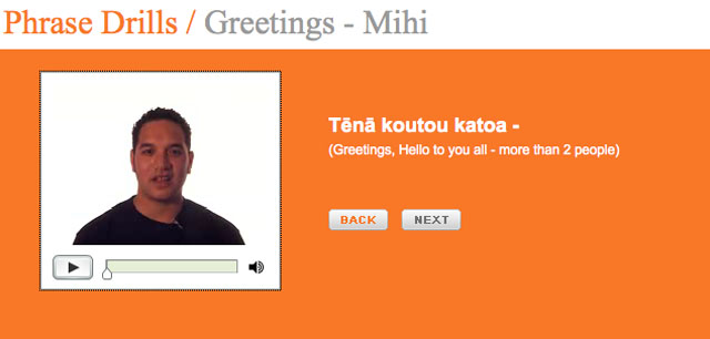 Maori Language net maori video lessons